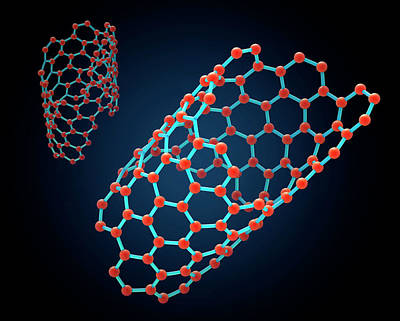 Carbon Nanotube Poster by Andrzej Wojcicki