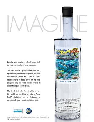 Carey Chen Big Chill Vodka By Jimmy Johnson Poster by Carey Chen