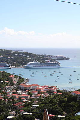 Caribbean Cruise - St Thomas - 1212282 Poster by DC Photographer