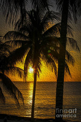 Caribbean Sunset Poster by Patricia Hofmeester