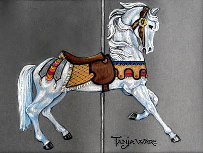 Carl Carmel Carousel Horse Poster by Tanja Ware