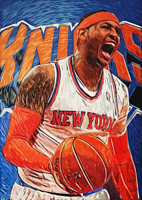 Carmelo Anthony Poster by Taylan Soyturk