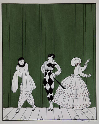 Carnaval Poster by Georges Barbier
