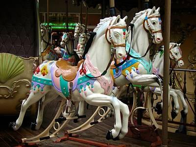 Carousel Horses Poster by Ricardo J Ruiz de Porras