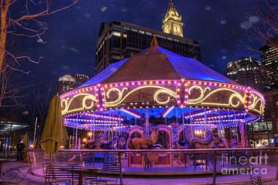 Carousel In Boston Poster by Juli Scalzi