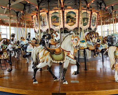 Carousel Indian Horse No. 1 Poster by Greg Hager