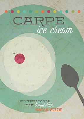 Carpe Ice Cream Poster by Tammy Apple
