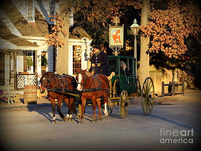 Carriage Ride Poster by Patti Whitten