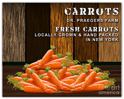 Carrot Farm Poster by Marvin Blaine