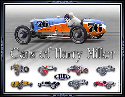 Cars Of Harry Miller Poster by Ed Dooley