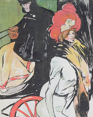 Cartoon Depicating A Cabman With A Courtesan Poster by Francisco Xavier Gose