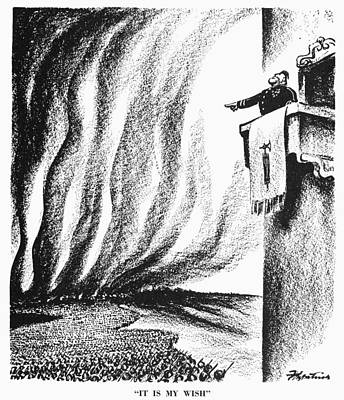 Cartoon: Mussolini, 1940 Poster by Granger
