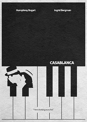 Casablanca Poster by Ayse Deniz
