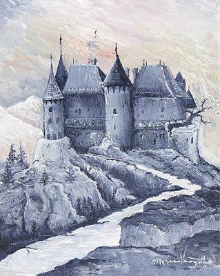 Castle Of The Carpathians Poster by Monica Veraguth