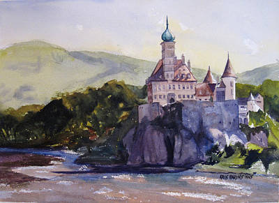 Castle On The Danube Poster by Kris Parins