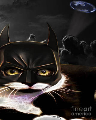 Cat Crusader Poster by Cheryl Young