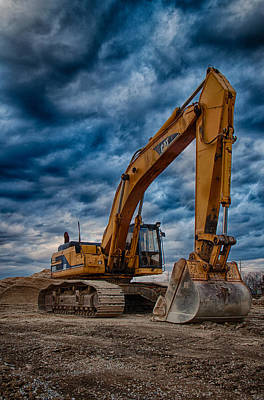 Cat Excavator Poster by Mike Burgquist