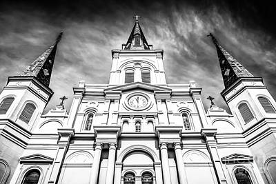 Cathedral-basilica Of St. Louis In New Orleans Poster by Paul Velgos