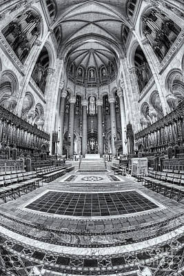 Cathedral Of Saint John The Divine Iv Poster by Clarence Holmes