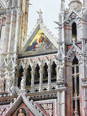 Cathedrals Of Tuscany Siena Italy Poster by Irina Sztukowski