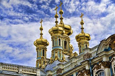Catherine Palace Cupolas - St Petersburg Russia Poster by Jon Berghoff