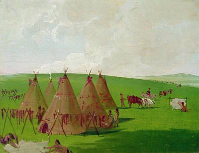 Catlin Sioux Encampment Poster by Granger