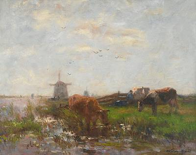 Cattle Grazing Poster by Willem Maris