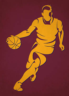 Cavaliers Basketball Player4 Poster by Joe Hamilton