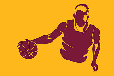 Cavaliers Shadow Player1 Poster by Joe Hamilton