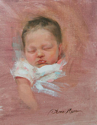 Cece At 2 Weeks Old Poster by Anna Rose Bain
