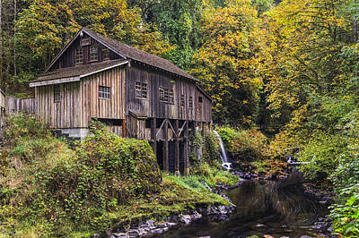 Cedar Creek Grist Mill Poster by Mark Kiver