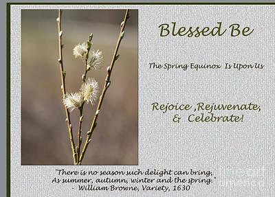 Celebrate The Spring Equinox Card Poster by Andrew Govan Dantzler