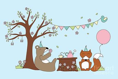Celebration Poster by Kathrin Legg