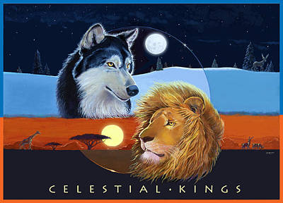 Celestial Kings With Caption Poster by J L Meadows