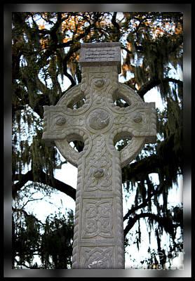 Celtic Cross In Savannah Poster by Carol Groenen