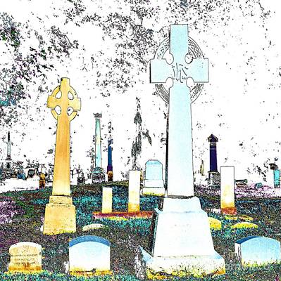 Celtic Crosses Poster by Luther   Fine Art