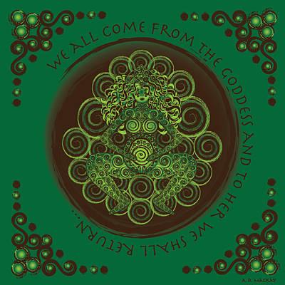 Celtic Pagan Fertility Goddess Poster by Celtic Artist Angela Dawn MacKay