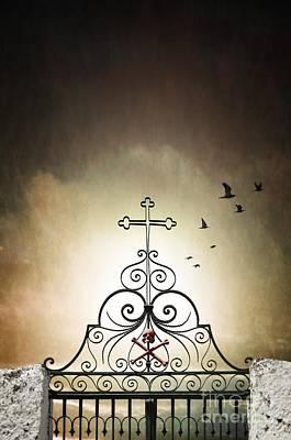 Cemetery Gate Poster by Carlos Caetano