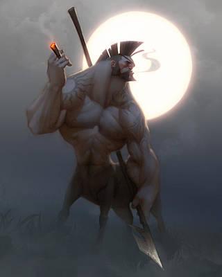 Centaur Poster by Adam Ford