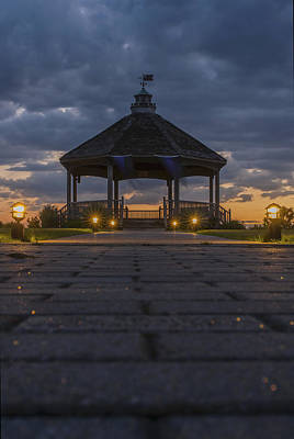 Centennial Gazebo Lavallette New Jersey Poster by Terry DeLuco