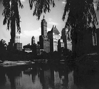 Central Park Evening View Poster by Underwood Archives