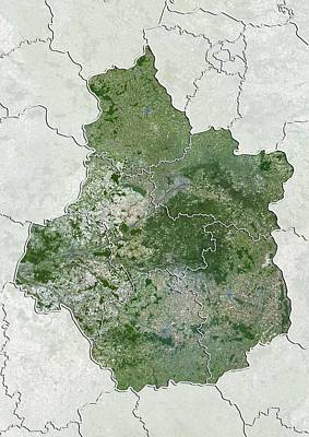 Centre Region, France, Satellite Image Poster by Science Photo Library