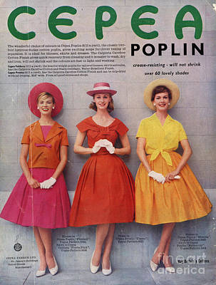 Cepea Poplin 1959 1950s Uk Womens Poster by The Advertising Archives