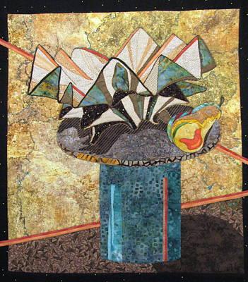 Ceramic Bowl And Pear Poster by Lynda K Boardman