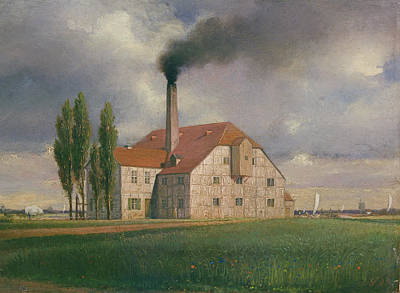 Ceramics Factory Belonging To Ernst March, Sophienstrasse, Charlottenburg, Berlin, 1835 Oil Poster by Eduard Gartner