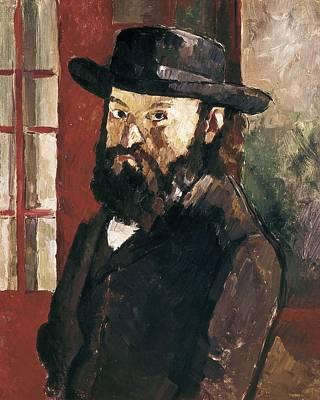 Cezanne, Paul 1839-1906. Self-portrait Poster by Everett