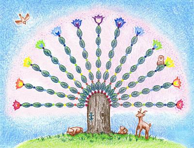 Chakra Tree Poster by Keiko Katsuta