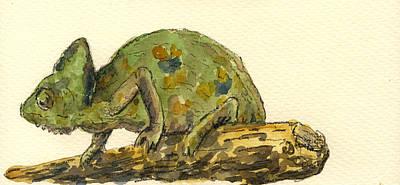 Chameleon Poster by Juan  Bosco