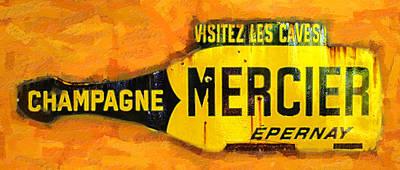 Champagne Mercier Signage Poster by Ron Regalado