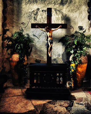 Chapel At The Mission Concepcion Poster by Gerlinde Keating - Galleria GK Keating Associates Inc